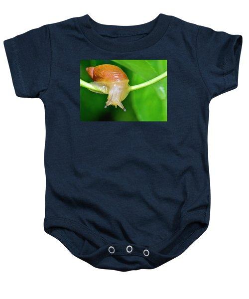 Morning Snail Baby Onesie