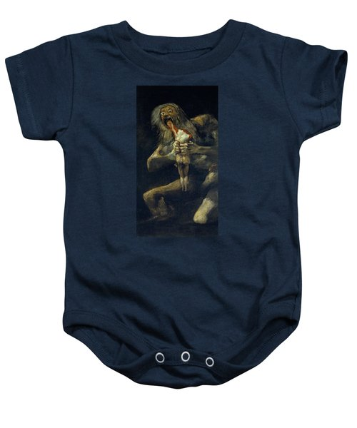 Saturn Devouring His Son Baby Onesie