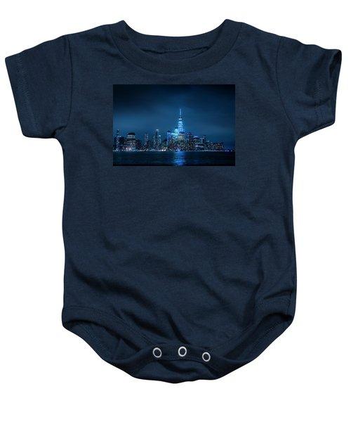 Skyline At Night Baby Onesie