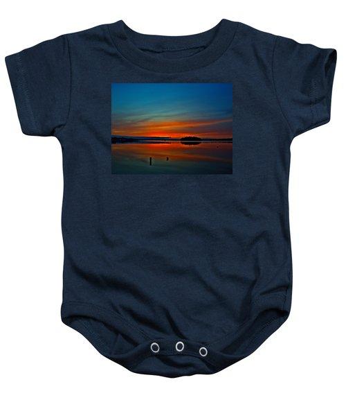 Sunrise Onset Pier  Baby Onesie