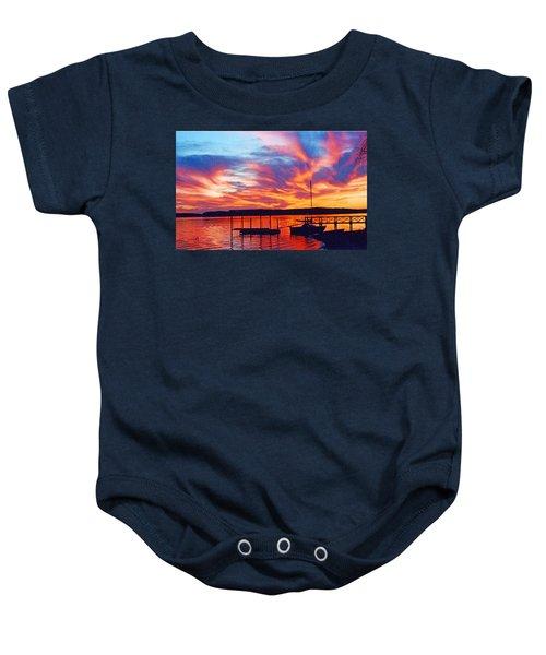 Sunset Over Lake Murray Baby Onesie