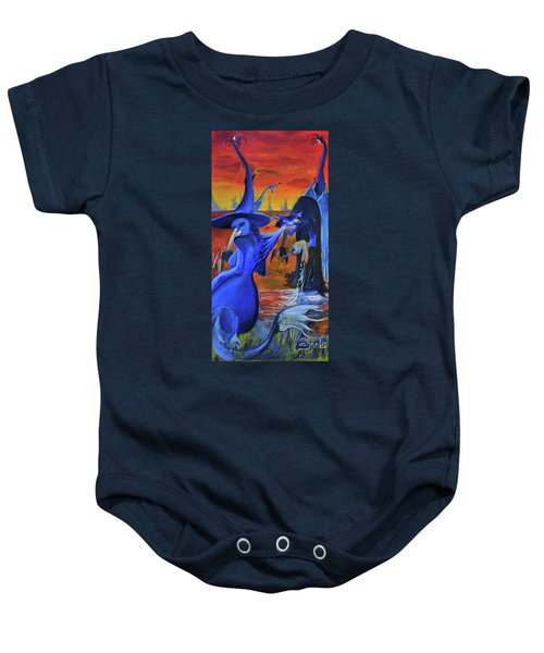 The Cat And The Witch Baby Onesie