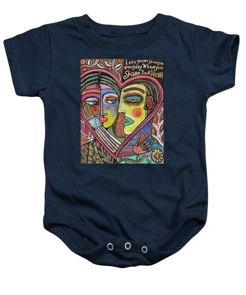 Tree Of Life Heart Lovers Baby Onesie