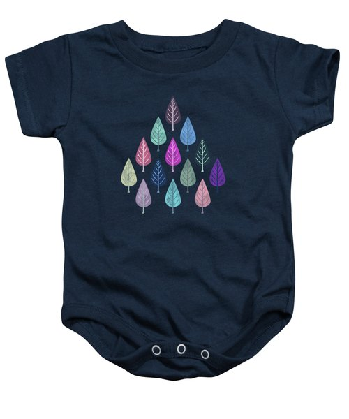 Watercolor Forest Pattern IIi Baby Onesie