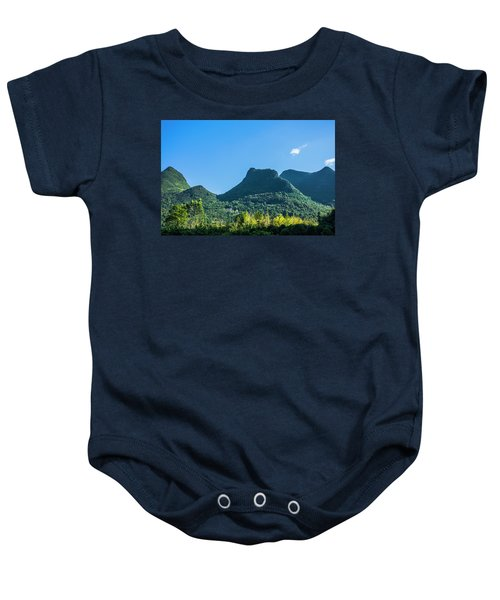 Countryside Scenery In Autumn Baby Onesie
