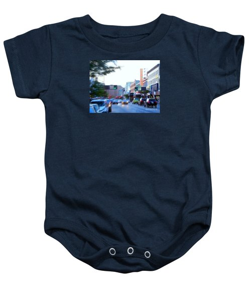 125th Street Harlem Nyc Baby Onesie by Ed Weidman