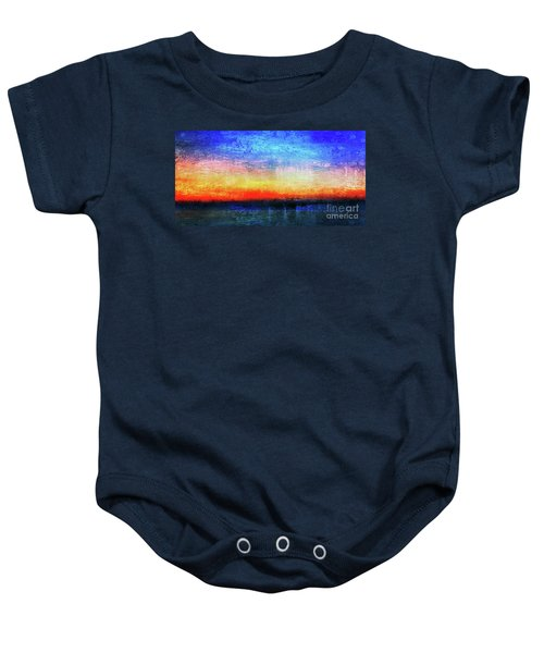 15a Abstract Seascape Sunrise Painting Digital Baby Onesie