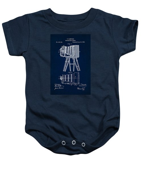 1885 Camera Us Patent Invention Drawing - Dark Blue Baby Onesie