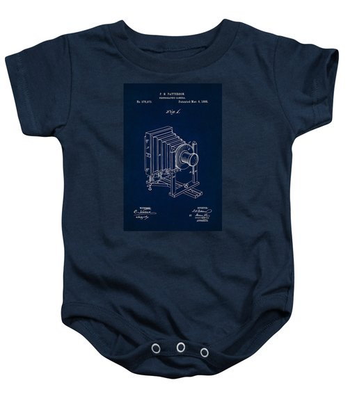 1888 Camera Us Patent Invention Drawing - Dark Blue Baby Onesie