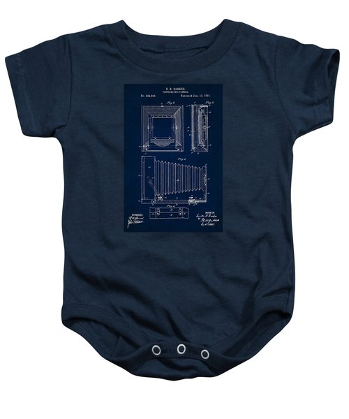 1891 Camera Us Patent Invention Drawing - Dark Blue Baby Onesie