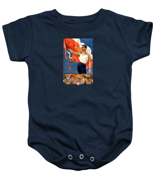 1921 Czech Sokol Of Chicago  Baby Onesie by Historic Image