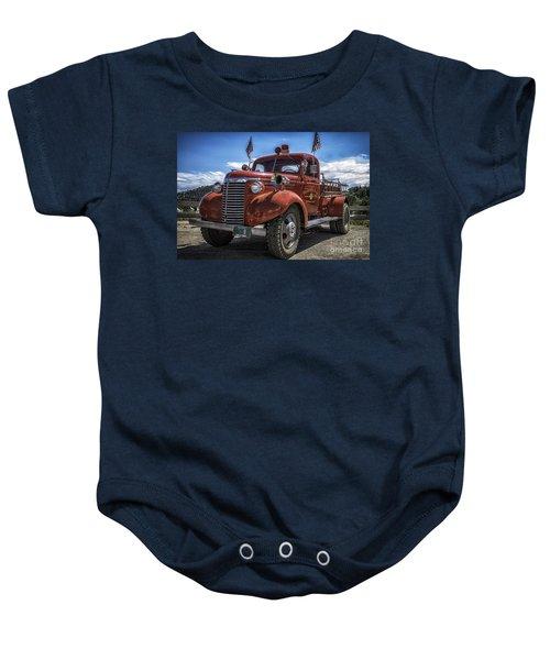 1940 Chevrolet Fire Truck  Baby Onesie