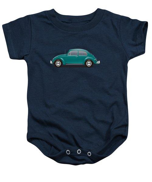 1967 Volkswagen Sedan - Java Green Baby Onesie by Ed Jackson