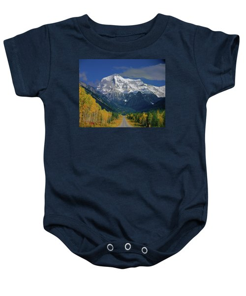 1m2441-h Mt. Robson And Yellowhead Highway H Baby Onesie