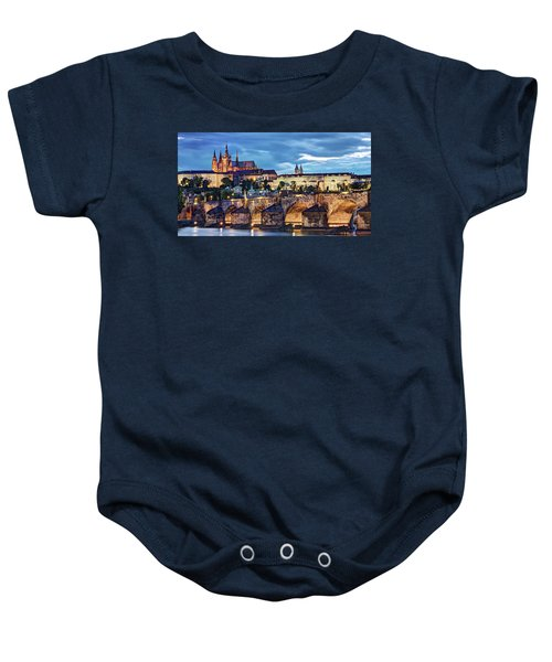 Charles Bridge And Prague Castle / Prague Baby Onesie