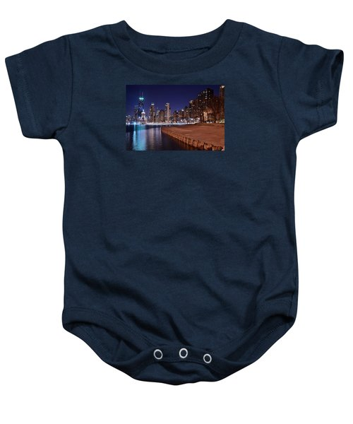 Chicago From The North Baby Onesie by Frozen in Time Fine Art Photography