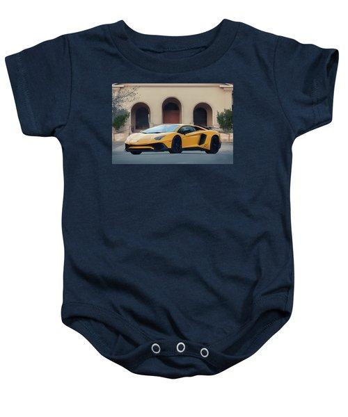 #lamborghini #aventadorsv #superveloce #print Baby Onesie