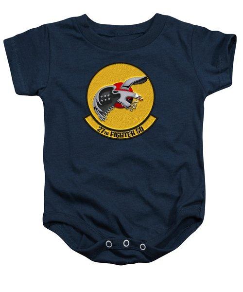 27th Fighter Squadron - 27 Fs Over Blue Velvet Baby Onesie