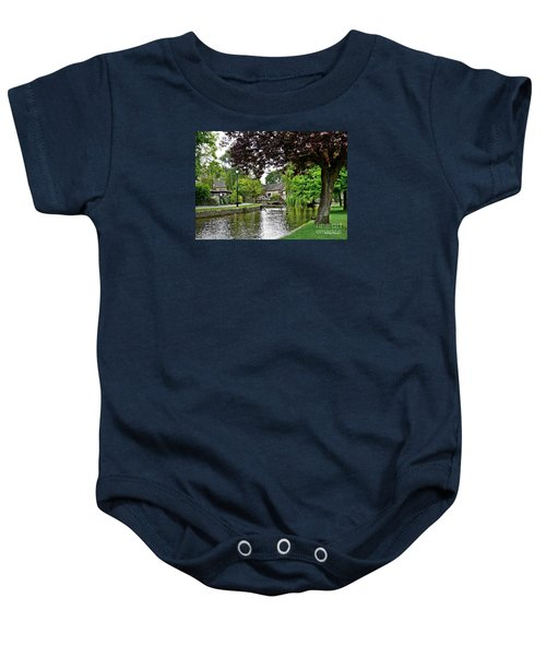 Baby Onesie featuring the photograph Bourton-on-the-water by Morag Bates