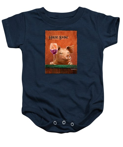 House Swine... Baby Onesie by Will Bullas