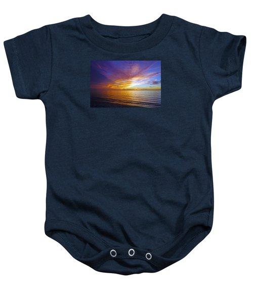Sunset At Delnor Wiggins Pass State Park In Naples, Fl Baby Onesie