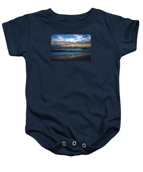 Sunset At Delnor-wiggins Pass State Park Baby Onesie