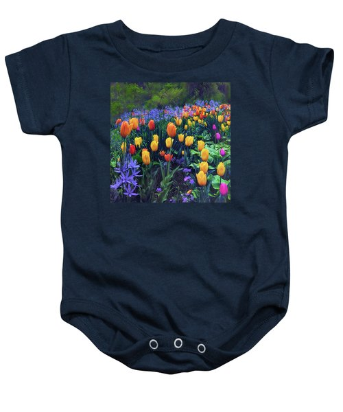 Procession Of Tulips Baby Onesie