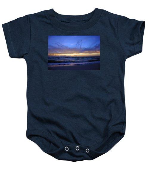 Sunset At Delnor Wiggins Pass State Park Baby Onesie