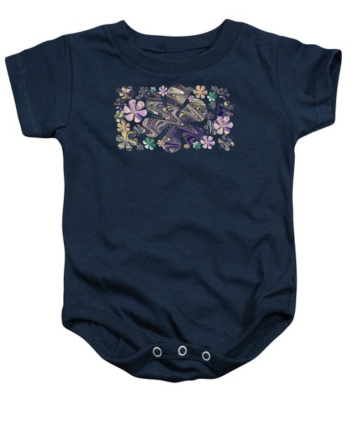 A Field Of Whimsical Flowers Baby Onesie