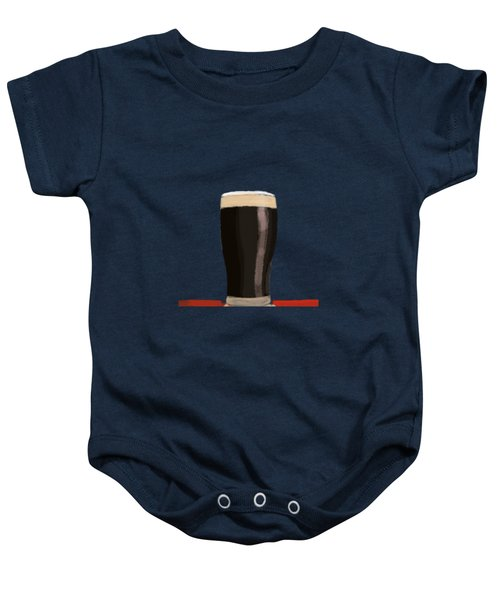 A Glass Of Stout Baby Onesie by Keshava Shukla