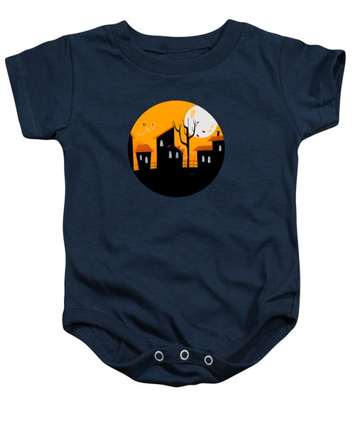 A Haunting We Will Go Baby Onesie
