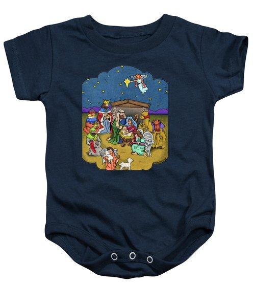 A Nativity Scene Baby Onesie