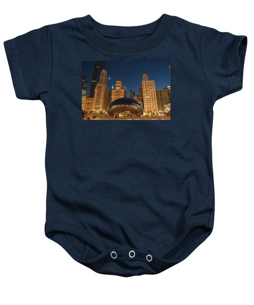 A View From Millenium Park At Night Baby Onesie