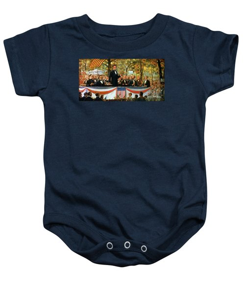 Abraham Lincoln And Stephen A Douglas Debating At Charleston Baby Onesie