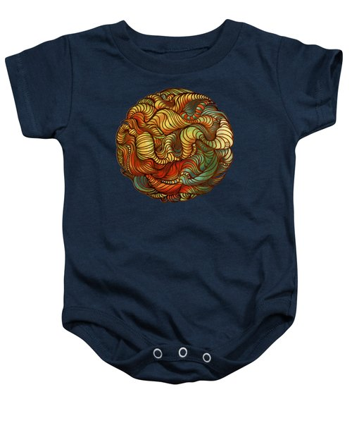 Abstract Forest Ball Baby Onesie
