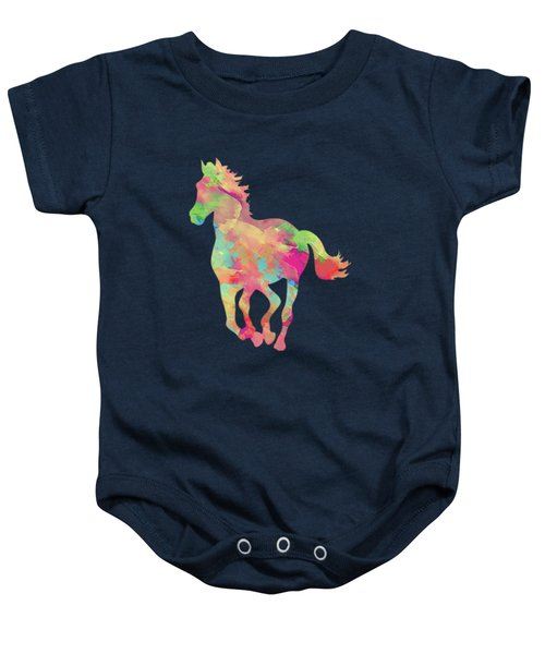 Abstract Horse Baby Onesie by Amir Faysal