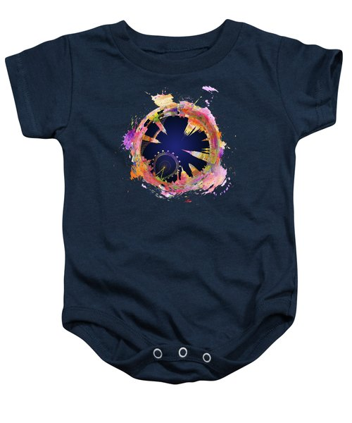 Abstract London Skyline At Night Baby Onesie