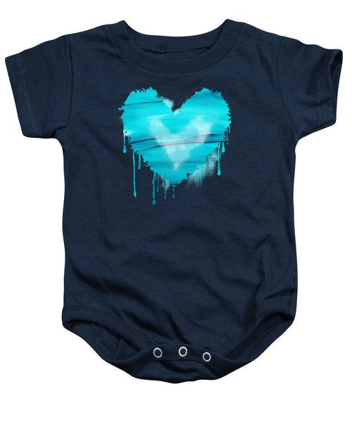 Adrift In A Sea Of Blues Abstract Baby Onesie