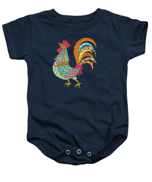 An Artful Rooster  Baby Onesie