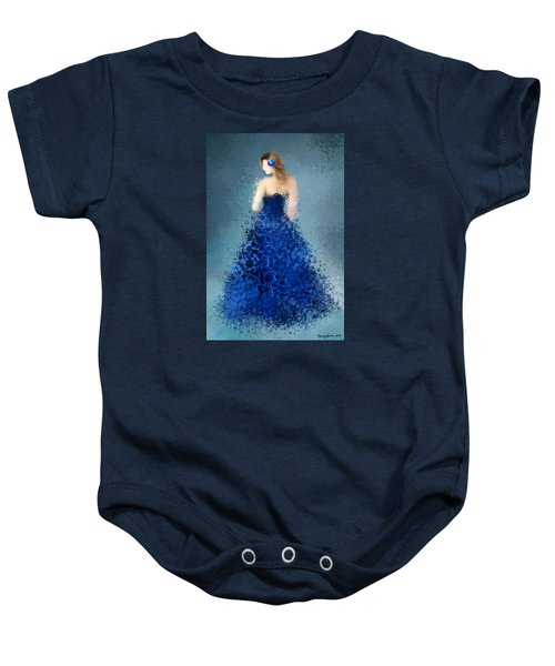 Baby Onesie featuring the digital art Angelica by Nancy Levan