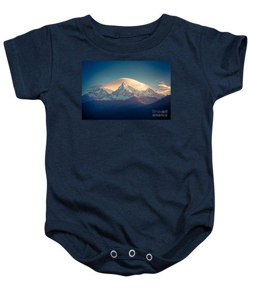 Annapurna Sunrise Himalayas Mountain Artmif Baby Onesie
