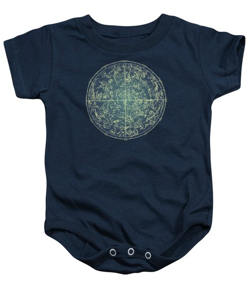 Antique Constellation Of Northern Stars 19th Century Astronomy Baby Onesie