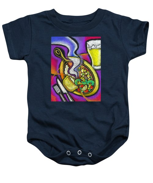 Appetizing Dinner Baby Onesie by Leon Zernitsky