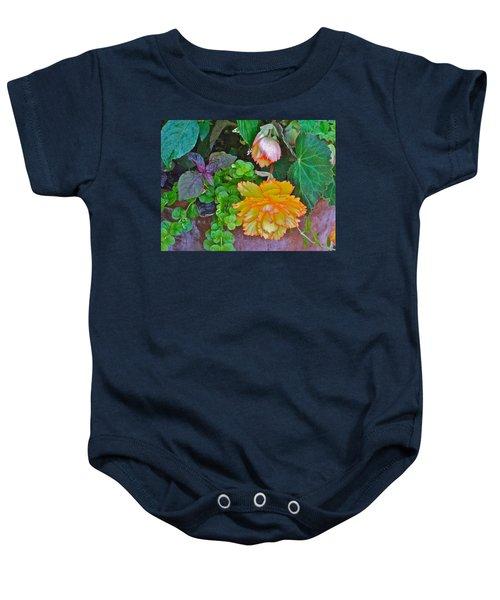 Apricot Begonia 3 Baby Onesie