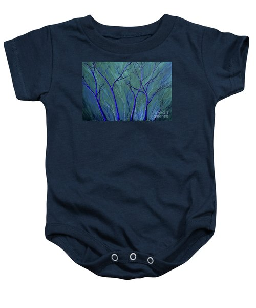 Aqua Forest Baby Onesie