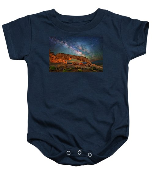 Arching Over The Arch Baby Onesie
