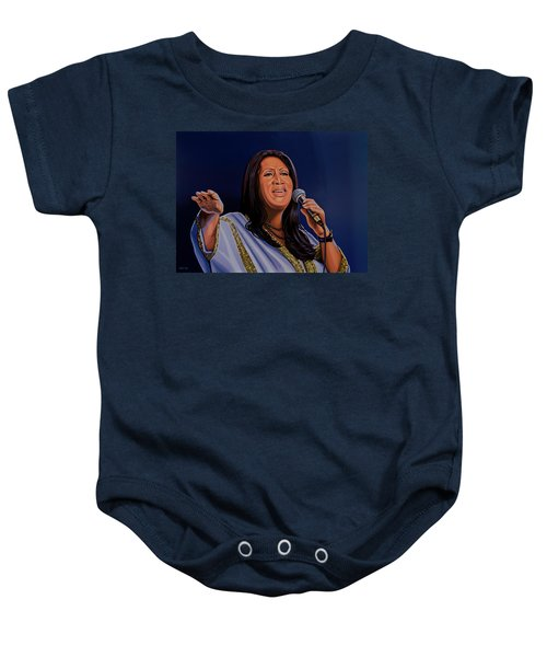 Aretha Franklin Painting Baby Onesie