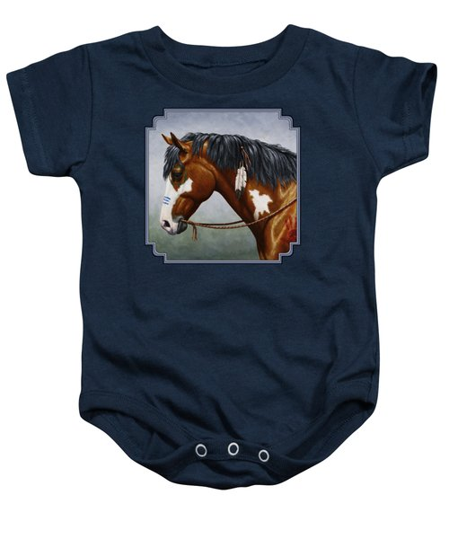 Bay Native American War Horse Baby Onesie