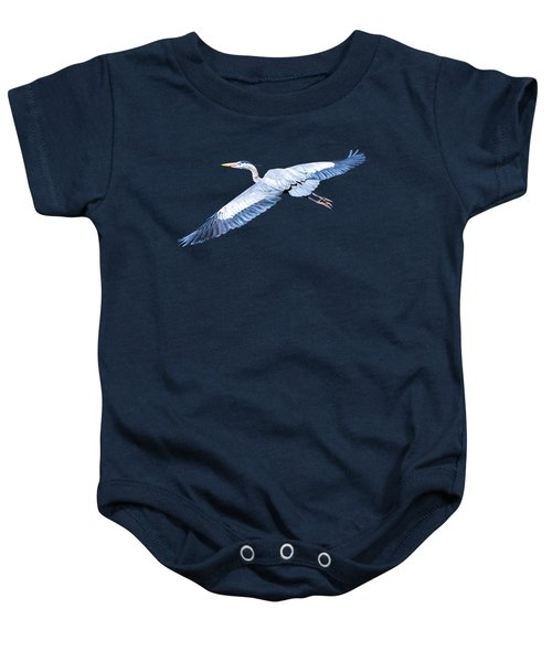 Great Blue Heron Flight Baby Onesie