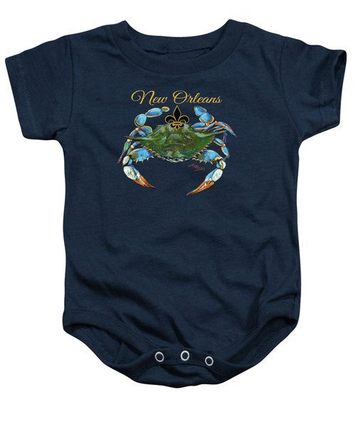 Louisiana Blue On Red Baby Onesie